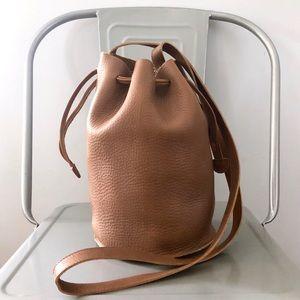 Baggu Crossbody Leather Bucket Bag NWOT